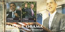 Togo 2014 MNH US President Barack Obama 2v S/S US Presidents Stamps
