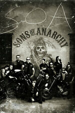 Sons of Anarchy Vintage Poster 24x36 crew black and white hogs motorcycle club!