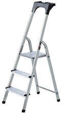 Haushaltsleiter Aluminium mit Arbeitsschale 3 Stufen  Brennenstuhl 1401230