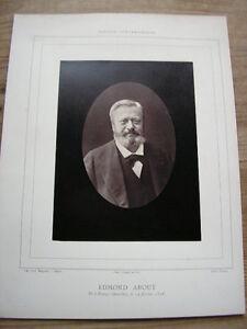 Edmond About Plantillas Photoglyptie Nadar Galería Contemporáneo 1880