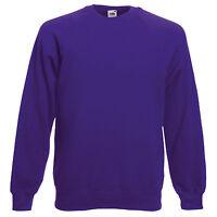 Fruit of the Loom SS270 Men's Reglan Sweatshirt Jumper Sweater. Personalised.