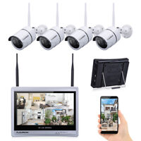 "4CH Wireless 1080P NVR Outdoor IP WIFI Camera Video Security System+ 10"" Screen"