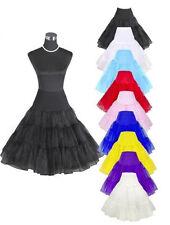 """50s Swing Vintage Tutu 26"""" Retro Underskirt Petticoat Fancy Net Skirt Rockabilly"""