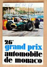 org Programm Monaco Grand Prix Brabham Siffert Gurney Rindt Hill Stewart 1968