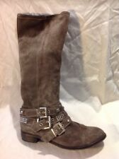 Vera Gomma Brown Knee High Suede Boots Size 39