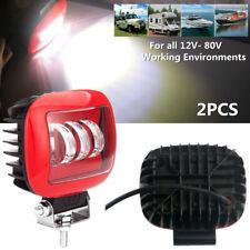 2pcs 30W Car Square Working Light LED 6000K SUV Truck Marine Spotlight Lamp Bulb