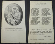 OLD BLESSED VIRGIN MARY JESUS CHILD HOLY CARD ANDACHTSBILD SANTINI        CC2130