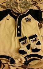 Milwaukee Brewers Baseball 6 to 9 months Romper and socks