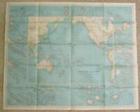 1936 National Geographic Magazine Pacific Ocean Wall Map