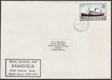 FALKLAND IS 1978 cover Royal Research Ship BRANSFIELD cachet................T213