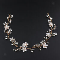 Bride Wedding Headpiece Hair Vine Pearl Flower Headband Party Hair Accessory