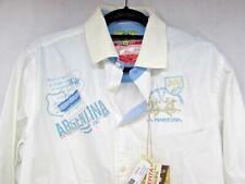 La Martina Men White Shirt Size M Bicentenario 1810-2010 Embroidered Argentina