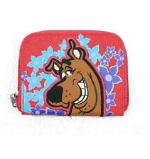 Scooby Doo Red Canvas Style Wallet Snap Open Picture Area Zipper Close New Bag