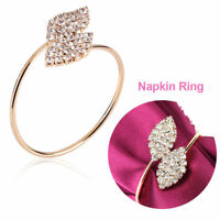 12/24/36Pcs Rhinestone Napkin Ring Set Serviette Buckle Holder Party Banquets