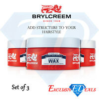 Brylcreem Hair Styling Wax Controlled Strong Structure Wax Pot 75ml x 3