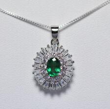 Collane e pendagli di lusso con gemme smeraldo naturali