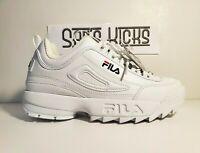 FILA MEN'S DISRUPTOR II 2 WHITE/RED FASHION SNEAKERS US Size 8.5