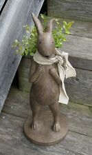Brown Peddler Bunny Rabbit STATUE*Primitive/French Country/Urban Farmhouse Decor