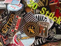 20 Stk Patches für Männer Stickmotive genäht zum Aufnähen Aufbügeln Flicken DIY