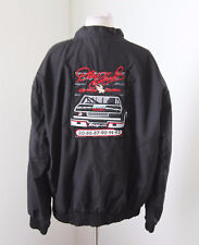 Vtg Dale Earnhardt Sr Black Windbreaker Jacket Size XL Snap On Goodwrench Nascar