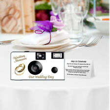 10 Pack PERSONALIZED Gold Rings Disposable Cameras, wedding camera,anniversary