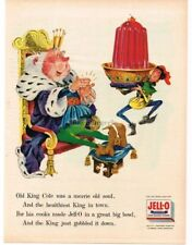 1956 JELL-O Old King Gole Nursery Rhyme art VTG PRINT AD