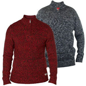 D555 Mens King Size Funnel Neck Knitted Pullover Jumper, BNWT