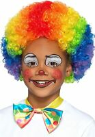 NEW Rainbow Clown Afro Multi Kids Coloured Circus Curly Wig Smiffy's Fancy Dress