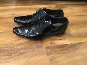 Kurt Geiger Patent Shoes Mens UK Size 10 - Used