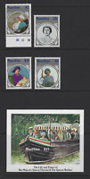 MAURITIUS 1985 LIFE & TIMES QUEEN ELIZABETH THE QUEEN MOTHER FDC, S/S STAMPS MNH