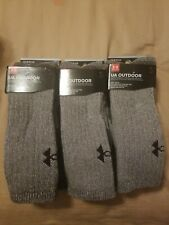 UNDER ARMOUR UA BOOT SOCKS, MEN'S 3 sets of 2-PACK, BROWN, 1249657 200