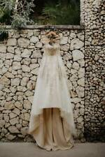 Couture wedding dress gold and off white