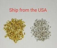 500 PCs Crimp Beads, Tube, 2x2 mm