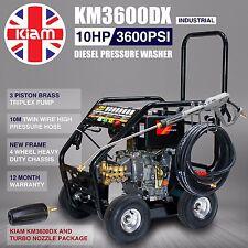 Kiam 3600psi Diesel Pressure Washer 10hp Jet Power Cleaner Inc. Turbo Nozzle