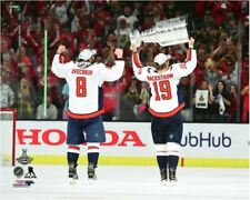 Alex Ovechkin Nicklas Backstrom Washington Capital Hoist Stanley Cup 8x10 Photo