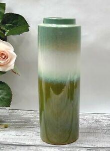 Porcelain Eucalyptus Flower Vase Ombre Glaze Indoor Cylinder Vase