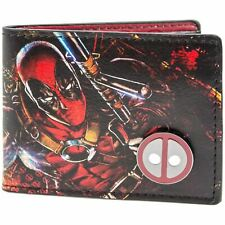 Official Marvel Deadpool Printed Character With Badge Id&Card Wallet *SECOND*