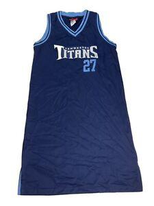 Vintage Tennessee Titans Eddie George #27 Reebok Jersey Dress Size Medium