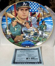 """JOSE CANSECO Sports Impressions Gold Edition 10"""" Plate w COA"""