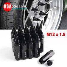 Set of 20 Spike Tuner Racing 12x1.5 Extend Lug Nuts Black for BMW X5 525i 330Ci