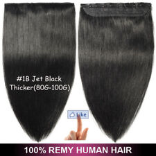 """Straight Remy Human Hair Clip in One Piece Thick Real Human Hair Extensions 22"""""""
