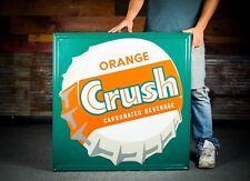 Original 1940's Orange Crush Tin Sign -NOS - !!