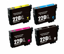 Super 220XL Ink Cartridges for Epson WorkForce WF-2640 2650 2750 2760 Printers