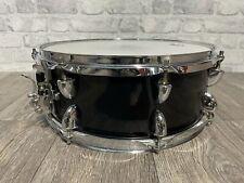 """More details for black snare drum 14"""" x 5.5"""" wooden shelled 8 lug / hardware #sn702"""