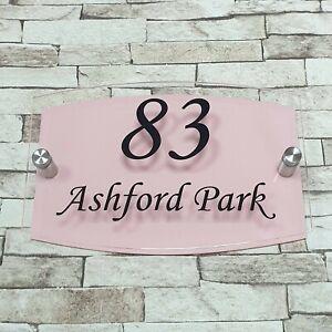 Baby Pink Modern House Sign - Door Number - Address Sign - Number Plaque