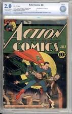 Action Comics # 26  Great Superman cover !  CBCS 2.0 rare Golden Age book !