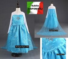 Frozen - Vestito Carnevale Elsa Dress up Elsa Costumes Cosplay 789007TU