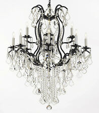 Wrought Iron Chandeliers Lighting SPECTRA? CRYSTAL- crystal quality Swarovski?
