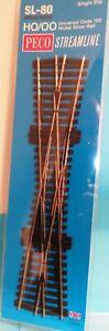 Peco Single Slip SL-80 Insulfrog Code 100