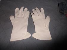 3 Pairs Of Ladies Vintage White Gloves, One With Rosettes Saddle Stitching, Emb